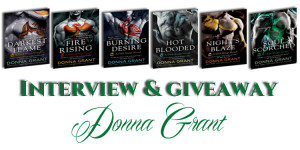 Interview and Giveaway ~ Soul Scorched by Donna Grant