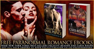 Four FREE PNR ebooks Plus Giveaway! @felicityheaton @carisroane