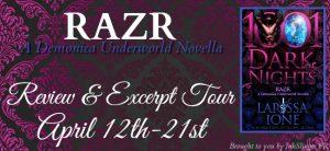 Review & Excerpt ~ Razr by Larissa Ione @LarissaIone @InkslingerPR