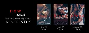 Cover Reveal ~ Blood Type Series by K.A. Linde @AuthorKALinde @InkslingerPR