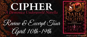 Review & Excerpt ~ Cipher by Larissa Ione @LarissaIone @InkslingerPR