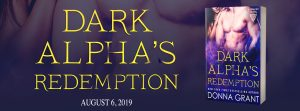 Cover Reveal ~ Dark Alpha's Redemption by Donna Grant @Donna_Grant @InkslingerPR